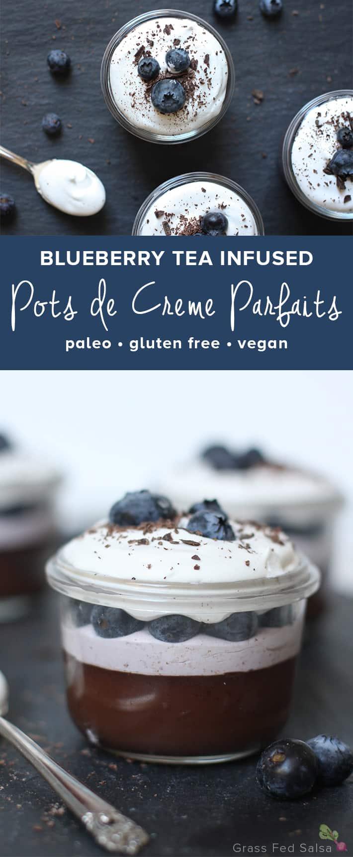 Blueberry Pots De Creme - dairy free, paleo, gluten free