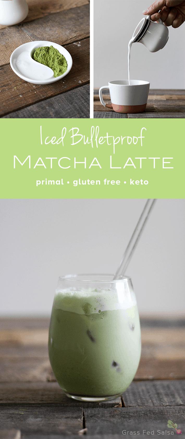 Iced Bulletproof Matcha Latte - dairy free