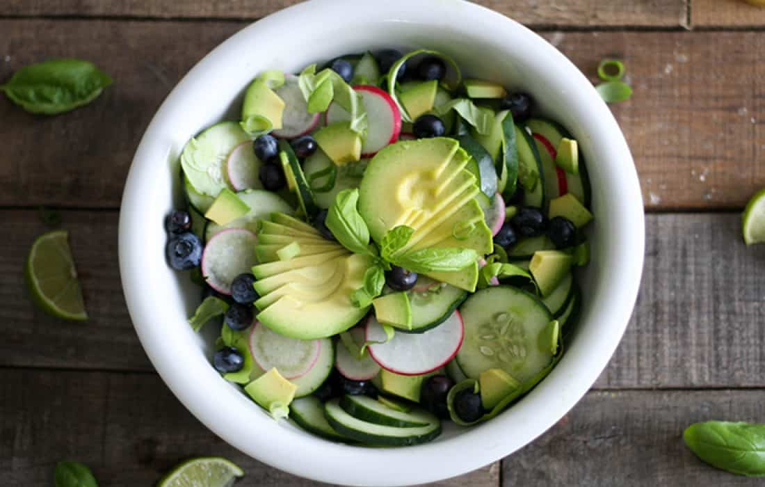Avocado, Blueberry, & Cucumber Salad