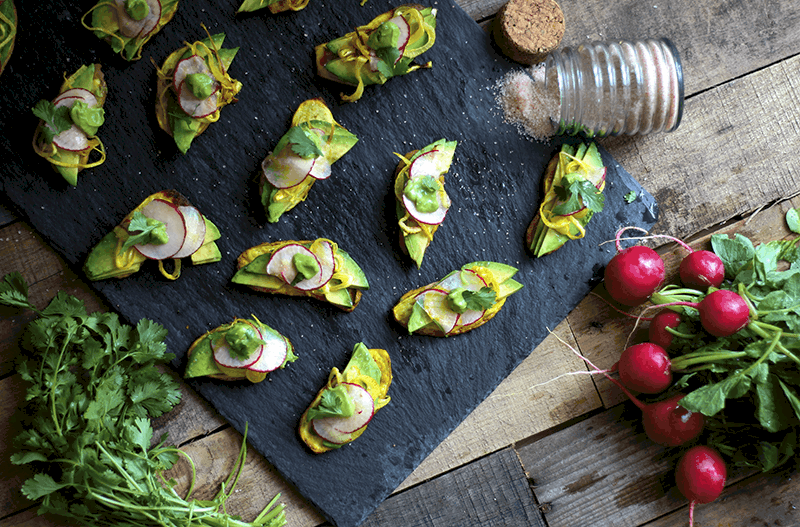 AIP Sweet Potato Avocado Toast with Cilantro Mayo, gluten free, dairy free