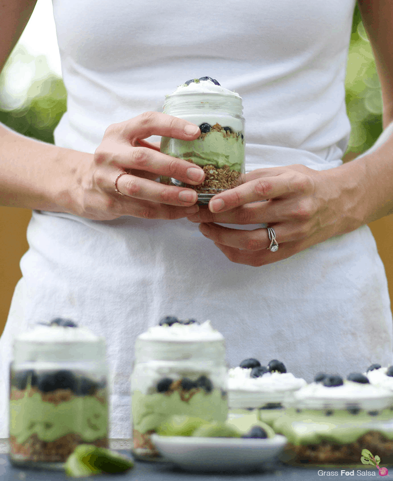 Grab the recipe for these AIP friendly, gluten free and dairy free Key Lime Pie Parfaits.