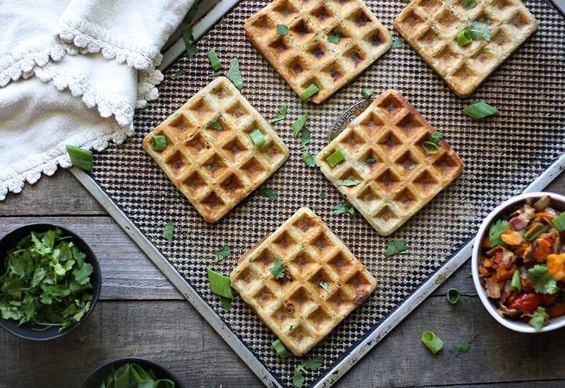 Savory Zucchini Waffle Sandwiches