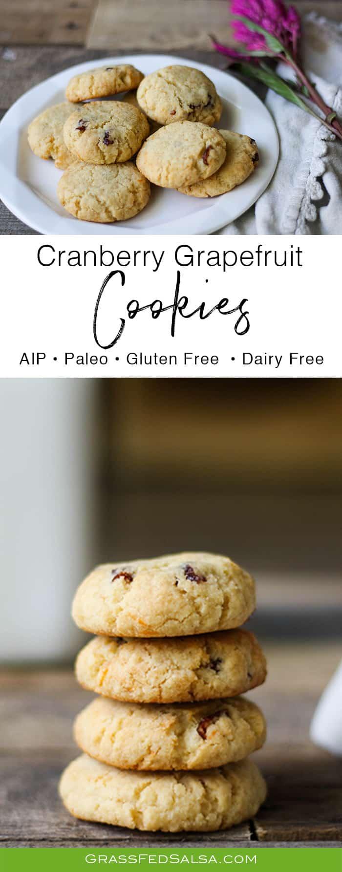 AIP Cranberry Grapefruit Cookies