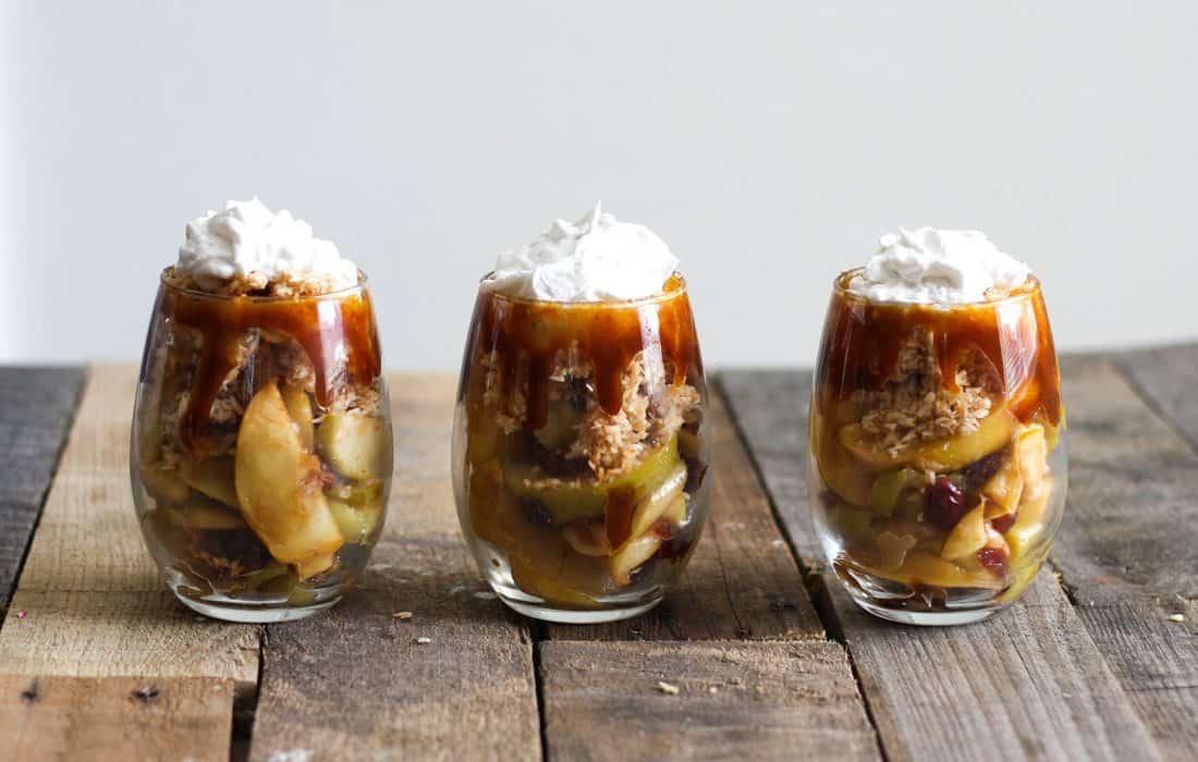 AIP Salted Caramel Apple Parfaits
