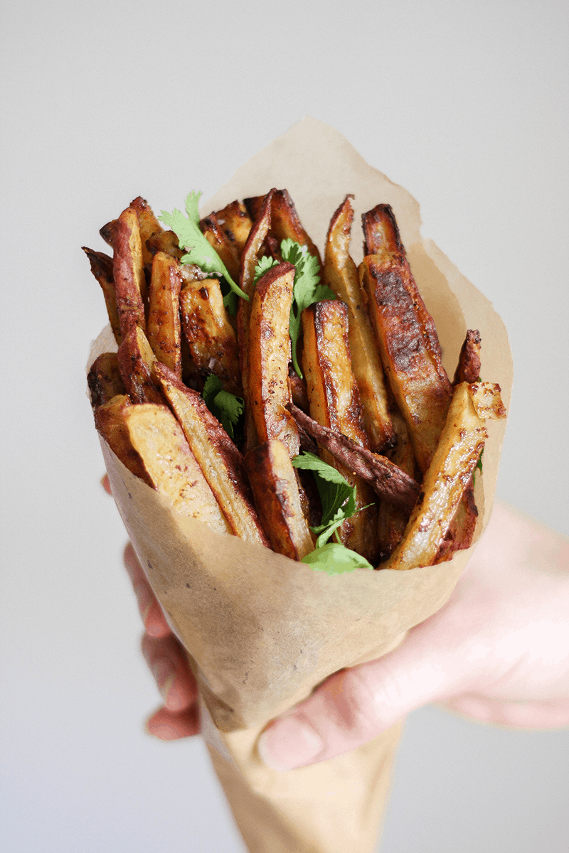 AIP Sweet Potato Fries with Bacon Jam
