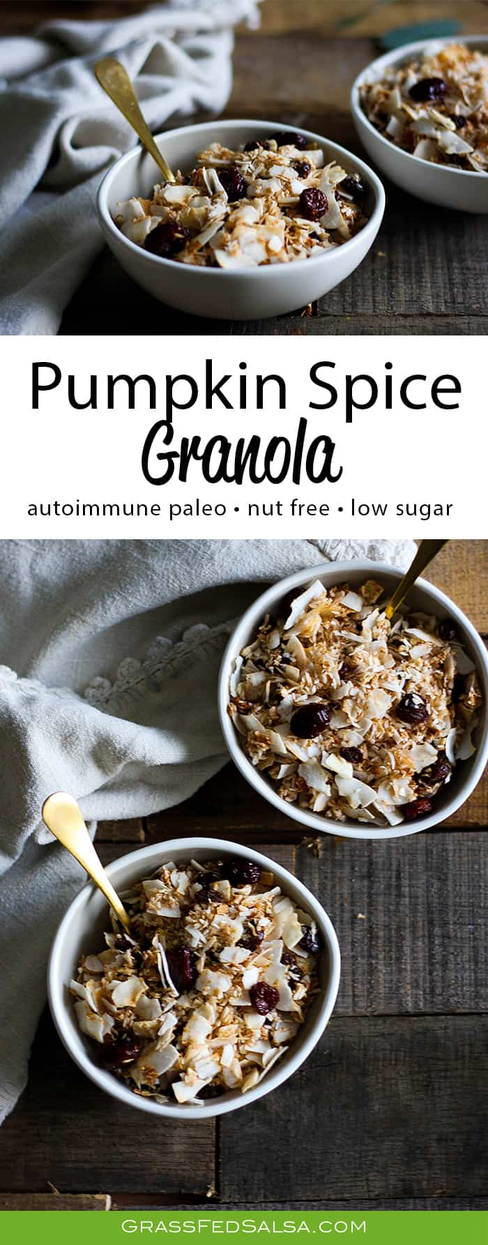 AIP Pumpkin Spice Granola Cereal