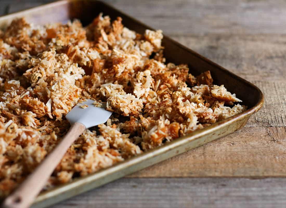 AIP Tropical Protein Granola Recipe (nut free, grain free, gluten free)