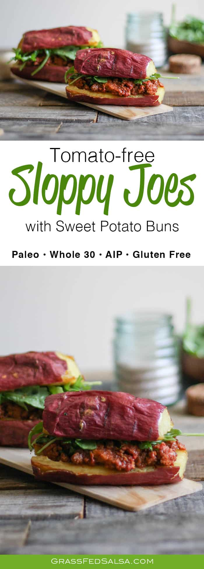 Homemade Tomato-free Sloppy Joes recipe with Sweet Potato Buns   Whole 30, Paleo, AIP, Gluten Free