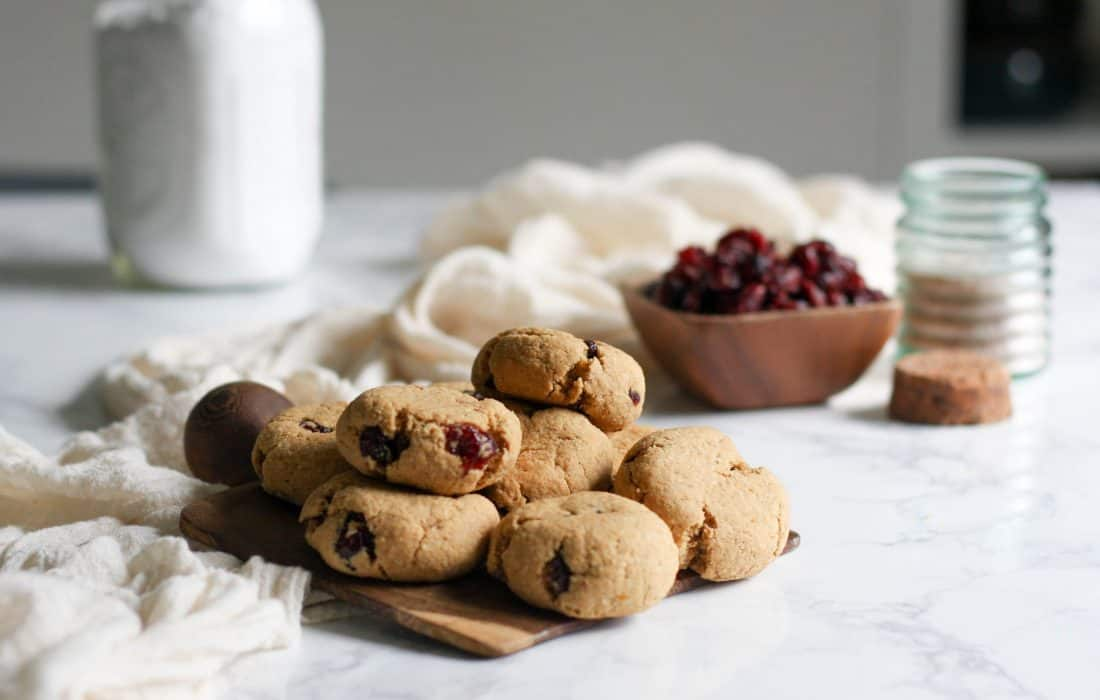 Cranberry Orange Cookies (AIP, Paleo)