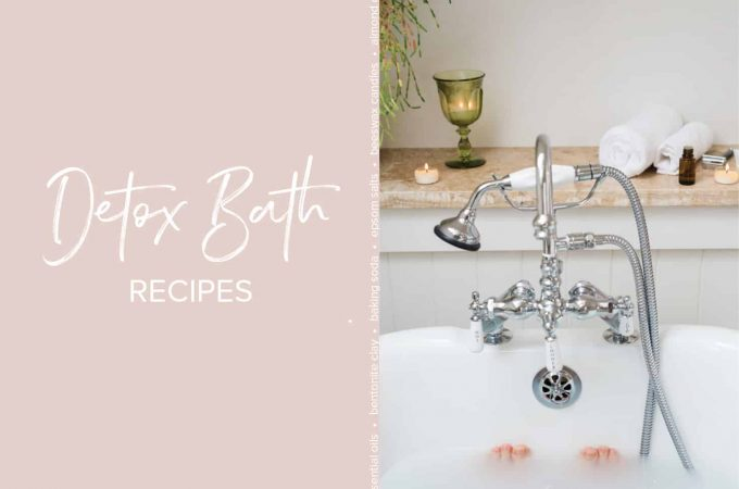 These Detox Bath Blends are my favorite form of self care. Not only are they a relaxing addition to my bath time ritual, but they smell amazing and help my body detox.