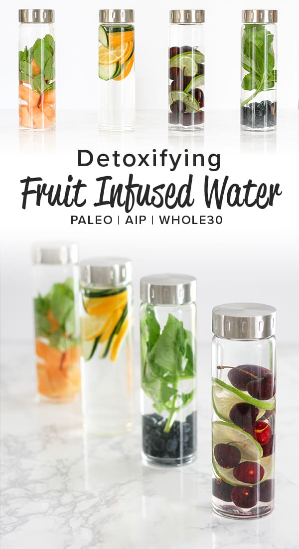 I can't believe how easy and effective these fruit infused water recipes are! They help support healthy detox function and taste really good!