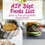 Here's the complete yes/no AIP Diet foods list for the autoimmune paleo protocol, with a free printable food list you can download!